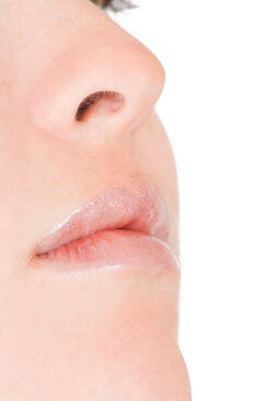 close up of a face with very soft skin