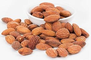 almonds in a bowl on the table