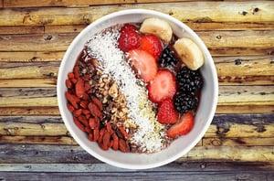 high fiber breakfast bowl