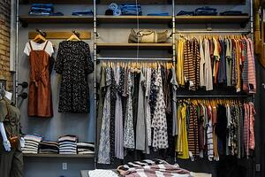women's closet organized