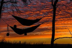 conscious rest in hammock outdoors