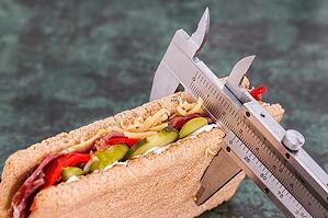 measuring size of sandwich portion control
