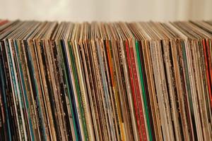old vinyl album collection