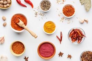 turmeric and masala ingredients