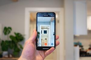 filming home tour on smart phone