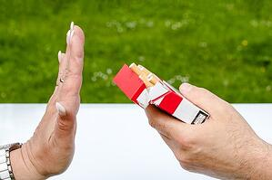 no smoking rejecting cigarettes