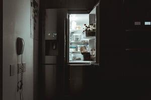 midnight snack open fridge