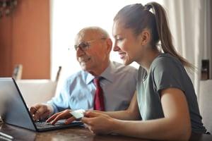 Older adults receiving financial help