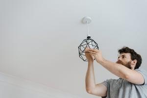 replacing ceiling light bulb