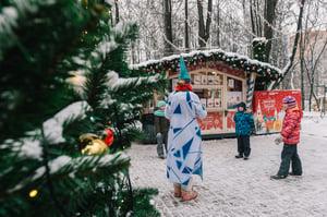 Outdoors holiday celebration