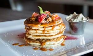 large stack of pancakes