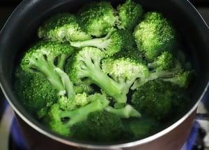 broccoli in a pot