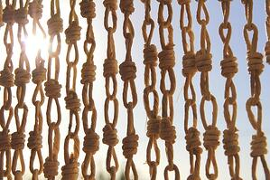 knotted rope in sunshine