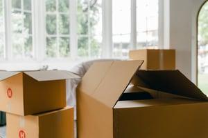 moving boxes downsizing