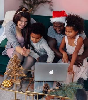Family video call on Christmas