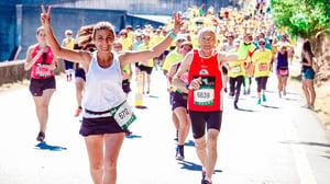 running in race
