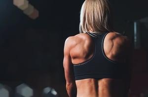 woman back strength
