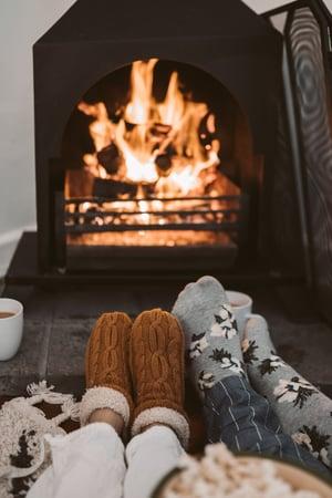 Cozy by Winter Fire