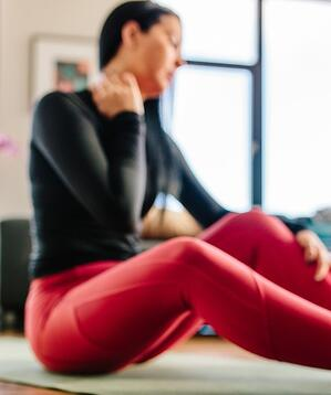 soreness in yoga practicioner