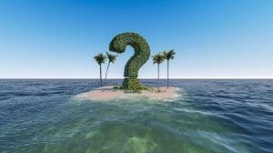 desert island question mark