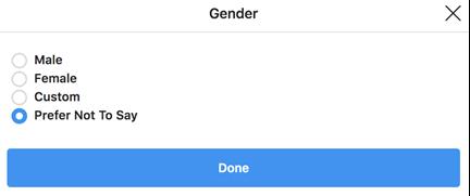 Instagram - Gender