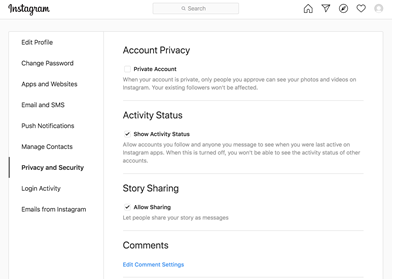 Instagram - Account Privacy